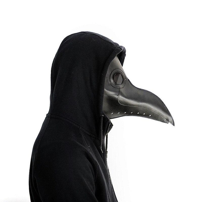 Neue pest arzt maske Schnabel Arzt Maske Lange Nase Cosplay Phantasie Maske Gothic Retro Rock Leder Halloween schnabel Maske