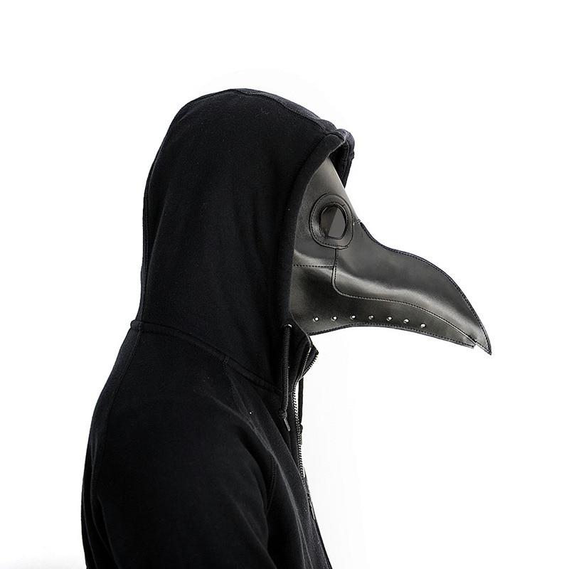 New plague doctor mask Beak Doctor Mask Long Nose Cosplay Fancy Mask Gothic Retro Rock Leather Halloween beak Mask cashel crusader fly mask with long nose all sizes