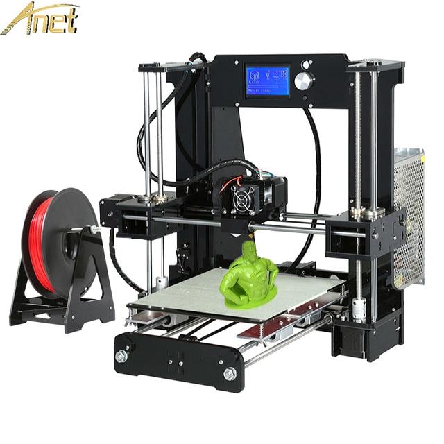 Анет A8 A6 автоматическое выравнивание A6/A8 акрил рамки промышленные Класс Высокая точность Reprap prusa i3 3d принтер DIY Kit с нитями