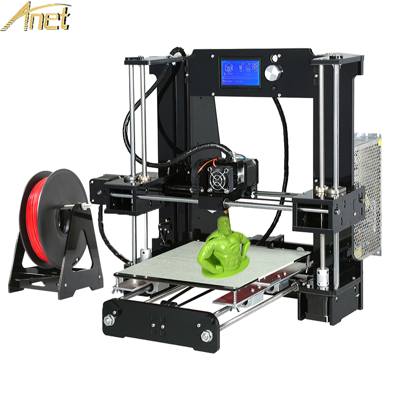 Anet A8 A6 Auto Leveling A6/A8 Acrylic frame Industrial Grade High Precision Reprap 3d printer DIY Kit With Free Filaments Gift hot sale 3d printers anet a6 a8 auto leveling 3d printer easy assemble precision reprap 3d printer kit diy with free filament
