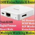 Английский прошивки Tenda 3G150S портативный 150 м беспроводной 3 г маршрутизатор N150 главная путешествия пляж отеля wi-fi 150 Мбит 3 г AP огонек режим