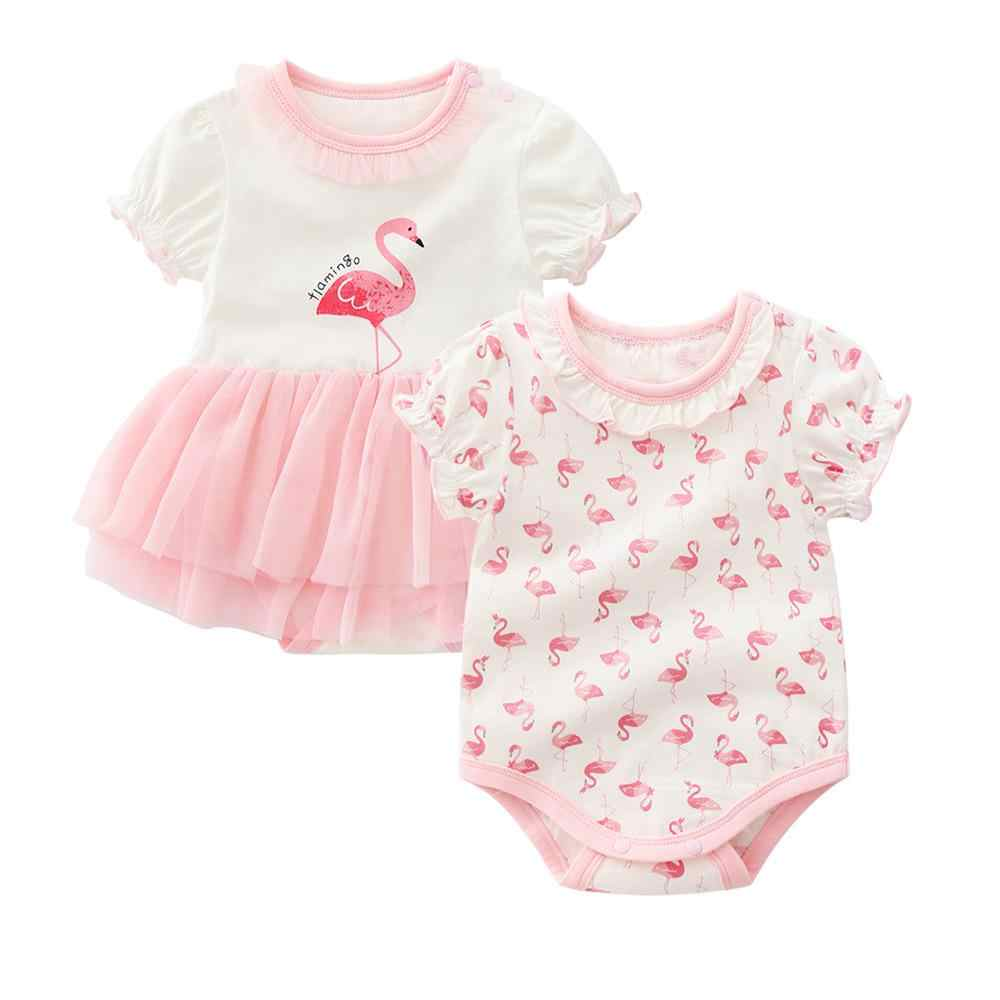 9daaf0724da flamingo style infant costume summer one pieces jumpsuit dress tutu kids  dresses for girls clothing princess