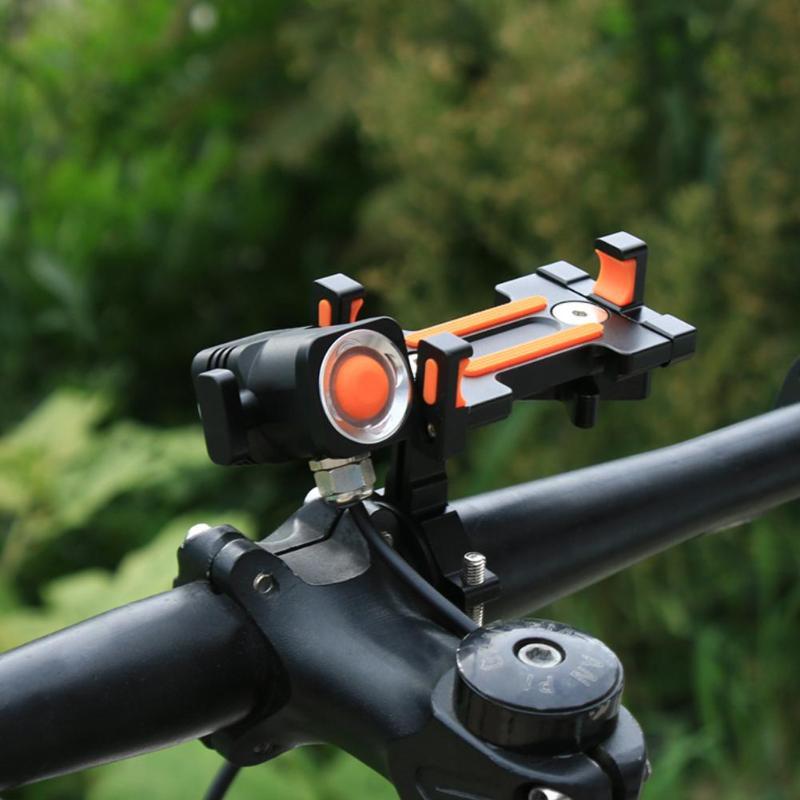 Support pour téléphone vélo universel moto vélo guidon Clip support support de montage GPS avec lampe équipement de cyclisme en plein air - 6