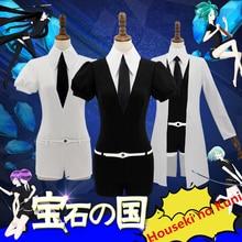 цена Anime Houseki no Kuni Phosphophyllite Antarctic Diamond Bort Cosplay Costume Jumpsuits Coat в интернет-магазинах