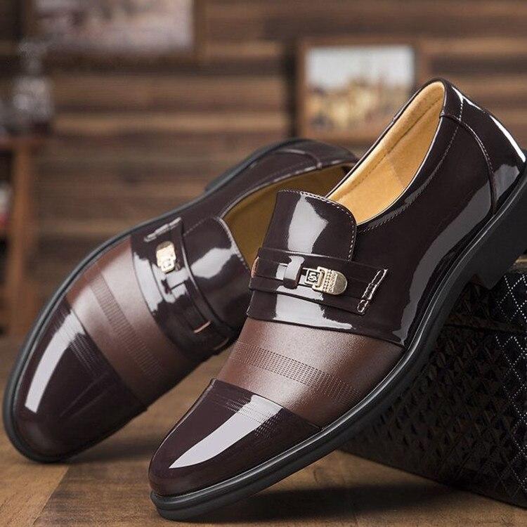 Mode Printemps Oxford 5 Cuir 2018 Mariage Brown Chaussures Black Nouveau marron Zapatos Bureau Casual Respirant Été summer Noir Hommes En De Hombre Creusé 2 summer Party fHzwwq56
