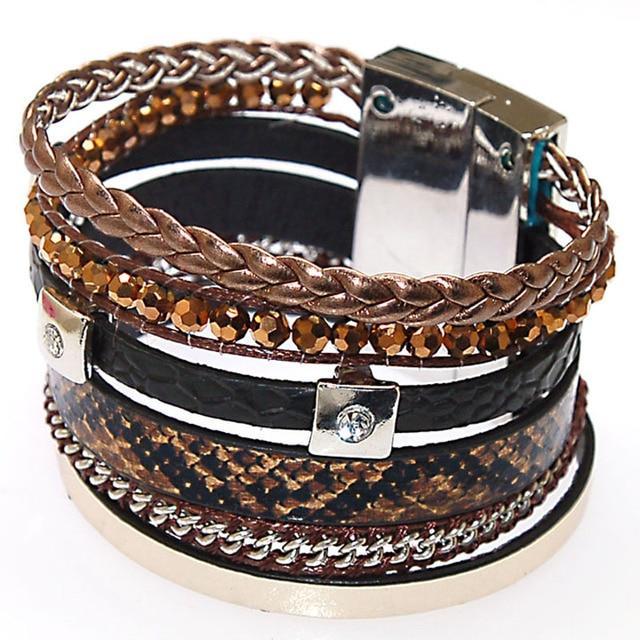 Magnetic Bracelet Brazilian Wrap With Clasp B1444