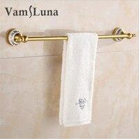 60m Single Tier Luxury Gold Bath Towel Holder For Home & Hotel Bathroom Wall Mounted Storage Rack