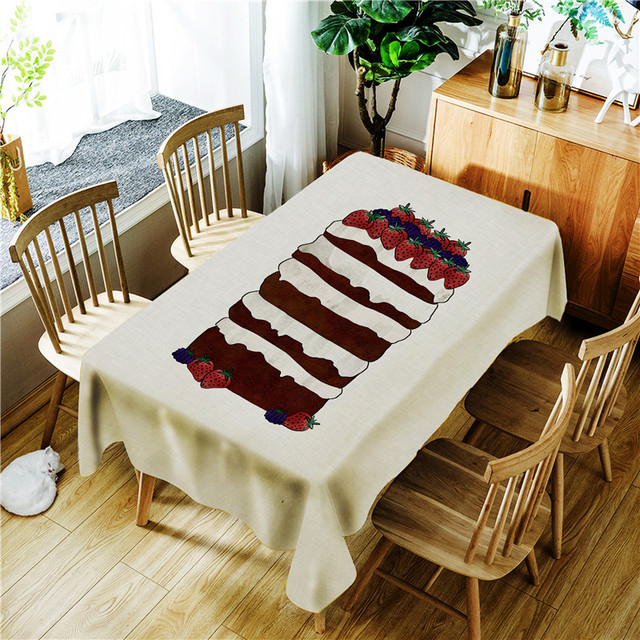 Cake Dessert Rectangle Tablecloths For Wedding Party Outdoor Picnic  Decoration Good Quality Easy To Clean Best
