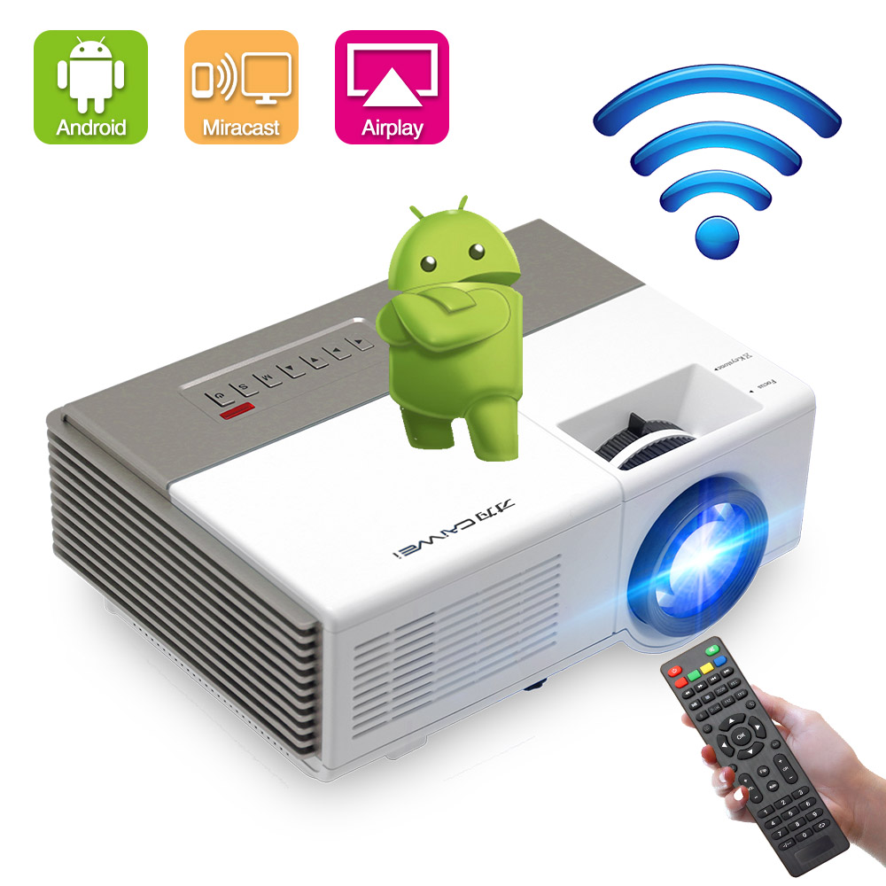 Caiwei Digital Led Projector Home Theater Beamer Lcd: CAIWEI Portable Android WiFi Mini LED Projector Digital