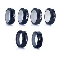 Mavic Hava Lens UV ND CPL filtre ND4 ND8 ND16 ND32 HD Filtre metal saklama kutusu DJI Mavic Hava Drone Için aksesuarları