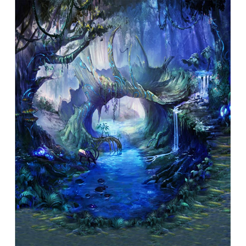 Fairy tale vinyl tree forest photography backdrops for cosplay kids photo studio portrait backgrounds 5X7ft free shipping