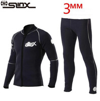SLINX 3mm Neoprene Winter Wetsuit Jacket Men Rash Guard Scuba Diving SwimwearKite Surfing Snorkeling Swimsuit Tops