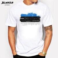 BLWHSA летние ностальгические стильные мужские футболки с принтом флага, хлопковые повседневные футболки для фитнеса, мужские футболки с круг...