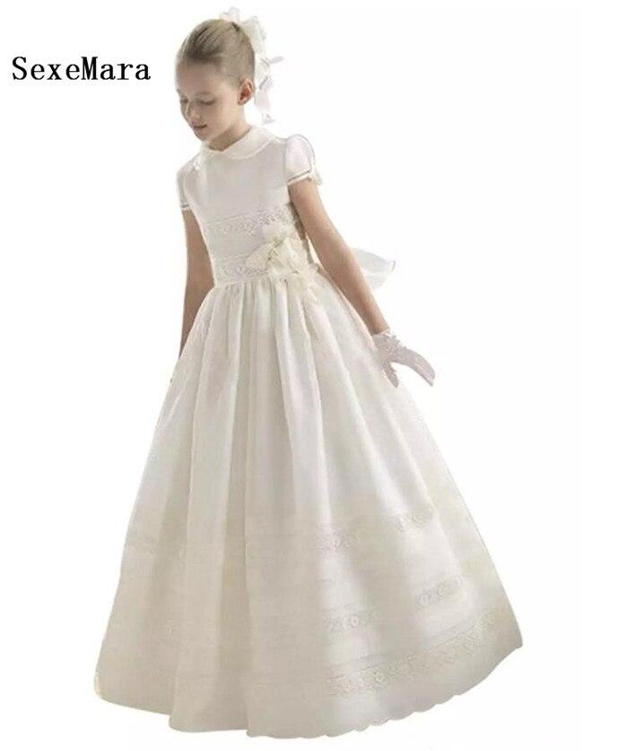 Aliexpress Vintage Ivory Flower Girls Dresses Floor Length
