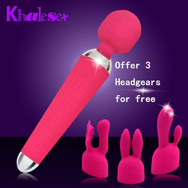 Super 10 Speeds Vibrator Waterproof USB Rechargeable Adult Sex Toys for Women Silicone Magic Wand Massager Sex Tools for Sales