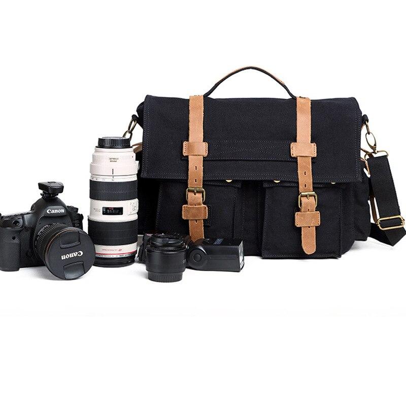 Sac de transport pour appareil photo protecteur de toile Insert cloison de séparation pour objectif reflex numérique Canon Nikon Sony Pentax appareils photo