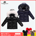 2019 Зимний пуховик, парка для девочек и мальчиков, пальто, 90% пуховики, детская одежда для снежной погоды, Детская верхняя одежда и пальто