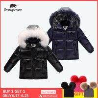 2019 冬のダウンジャケットパーカーコート、 90% ダウンジャケット子供服雪の摩耗子供アウター & コート