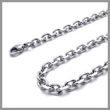 Stainless Steel 4-faced Cable Chain Necklace, Different Thickness, Lengths, Top Quality S.Steel Best Seller S007