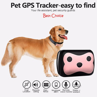 Mini Pet GPS Tracker Dog Cat Tracking Device Real Time Locator Waterproof 8 45V Pet personal gps tracker /IOS /Andriod App
