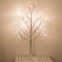 90 cm White Birch LED Luminescent Christmas Tree Lamp Decoration Bright Star Living Room Room Decoration