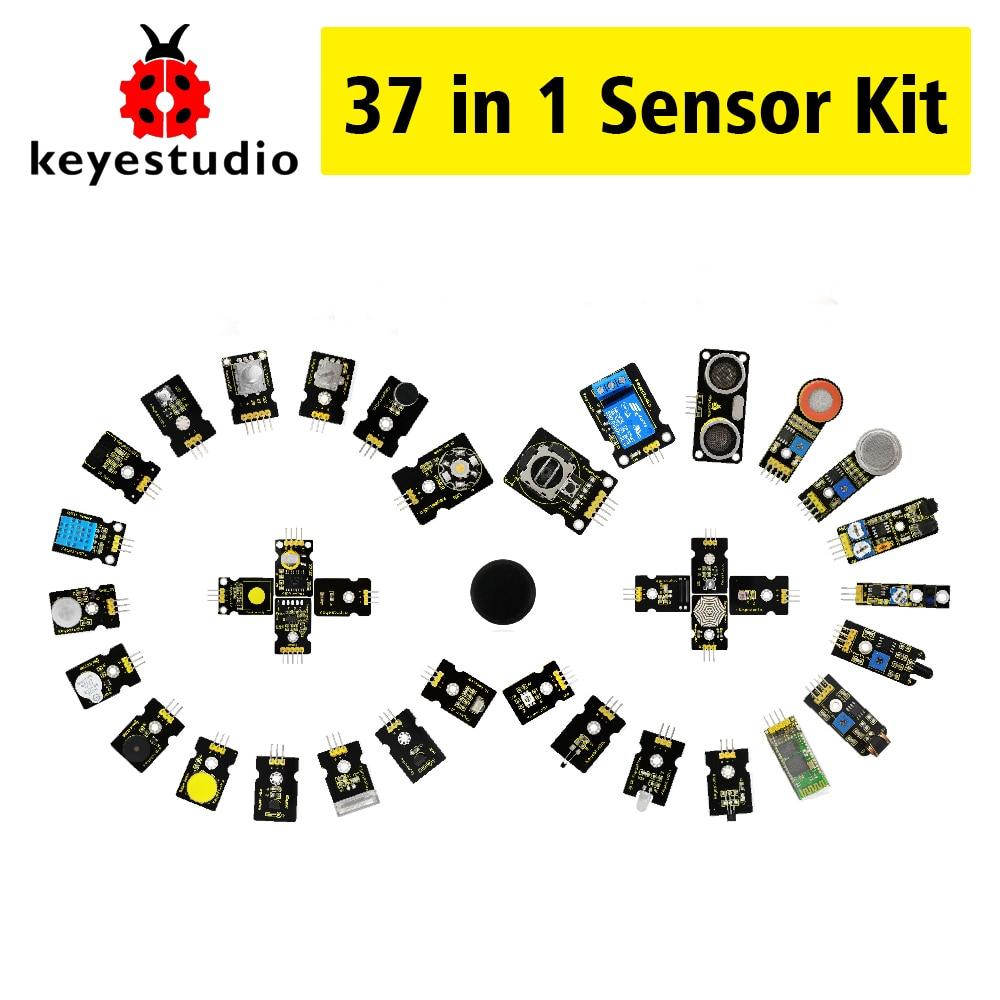 Nuevo embalaje! keyestudio37 en 1 kit sensor (37 unids sensores) para Arduino Starter Kit + 37 proyectos + PDF + video (funciona con Arduino oficial