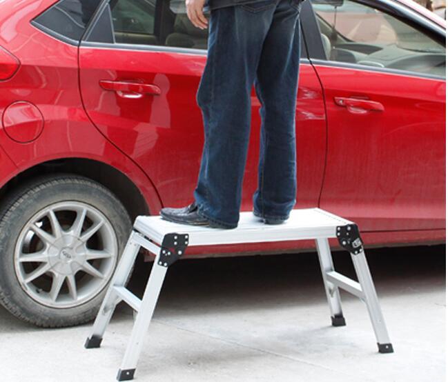 Aluminum Alloy Car Washing Stool Portable Folding Stool Outdoor Fishing Stool bamboo bamboo portable folding stool have small bench wooden fishing outdoor folding stool campstool train