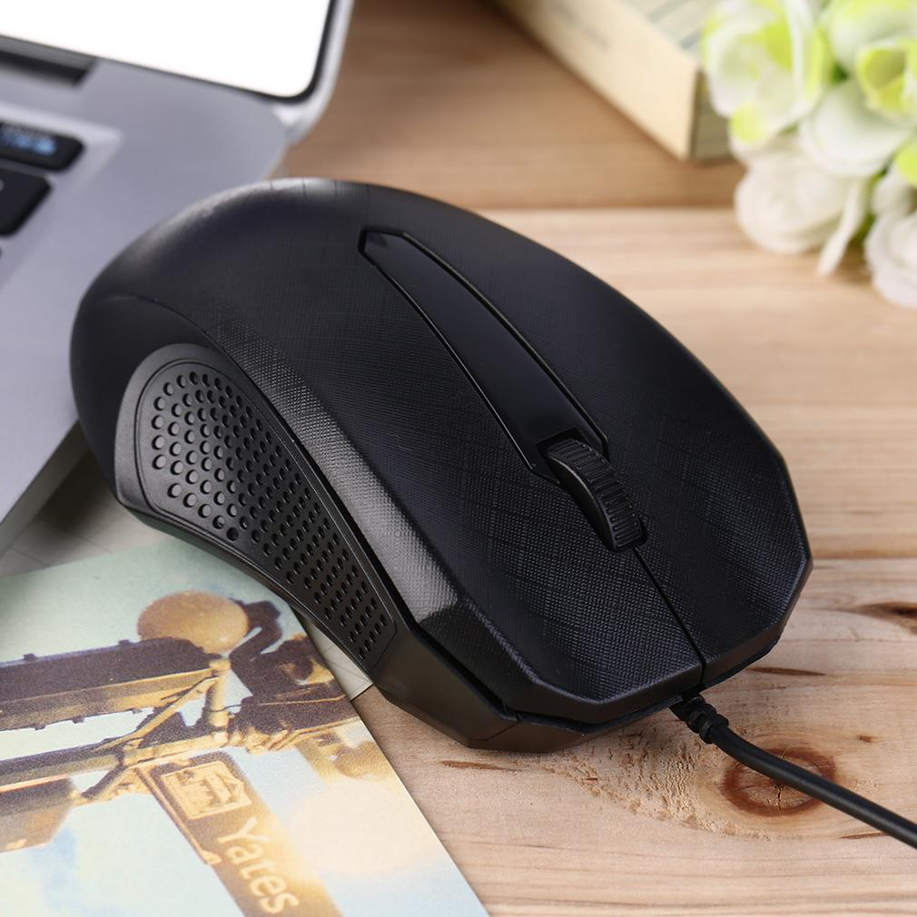 New Design 3D Scroll Wheel 1000 DPI USB Wired Optical Gaming Mice Mouse For Desktop PC Laptop Wholesale