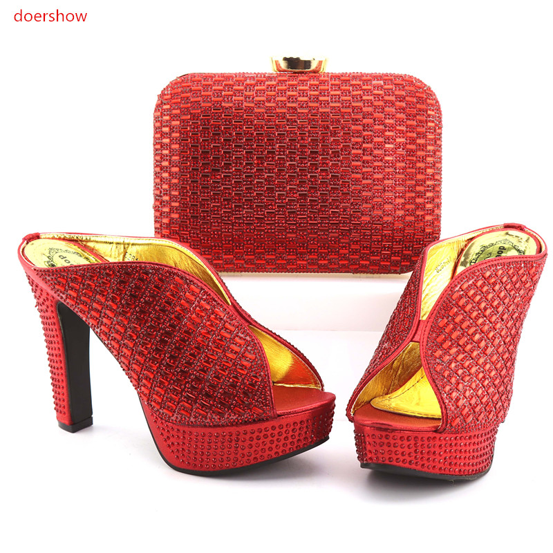 High Quality Women Shoes And Bags To Match African Shoes and Bag Sets Italian Shoes Matching With Bags For Party   FG1-2 good selling african women shoes and bag set fashion shoes heels 9cm italian shoes and bags to match for party as1 4
