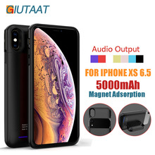 Rechargeable Power Bank Charger Audio Output Magnet Adsorption External Battery Case 5000 mah for iPhone XS MAX 6.5