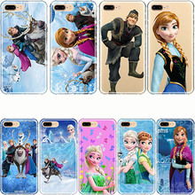 phone shell Cartoon Princess Aisha Anna Elsa Kristoff Sven Olaf Soft Silicone Phone Case Cover for iPhone X 5 5s SE 6 6s 7 8 Plu