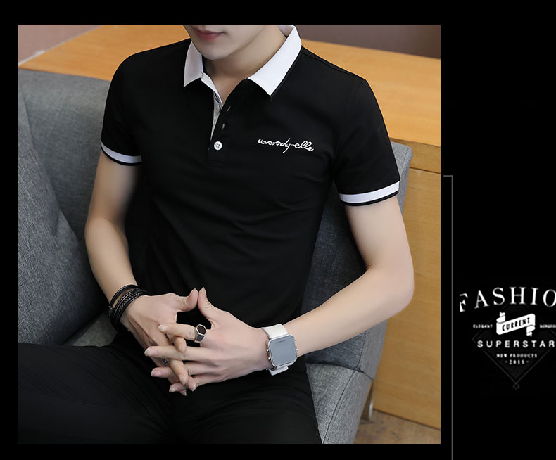 Short-sleeved T-shirt men's fashion casual cotton clothes decorated with multi-color optional 94