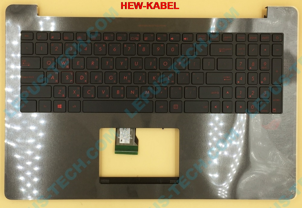 New For Asus ROG G501VW Keyboard Russian RU Red backlit no frame