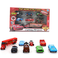 8PCS Set High Quality Car Baby Children Truck Vehicle Gift Cheap Toy Alloy Car Educational Dinky