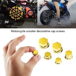 Image 2 - 30 adet/takım motosiklet modifikasyon aksesuarları kafa vidalı kapak için dekoratif parçalar Yamaha Kawasaki Honda araba Styling kapak