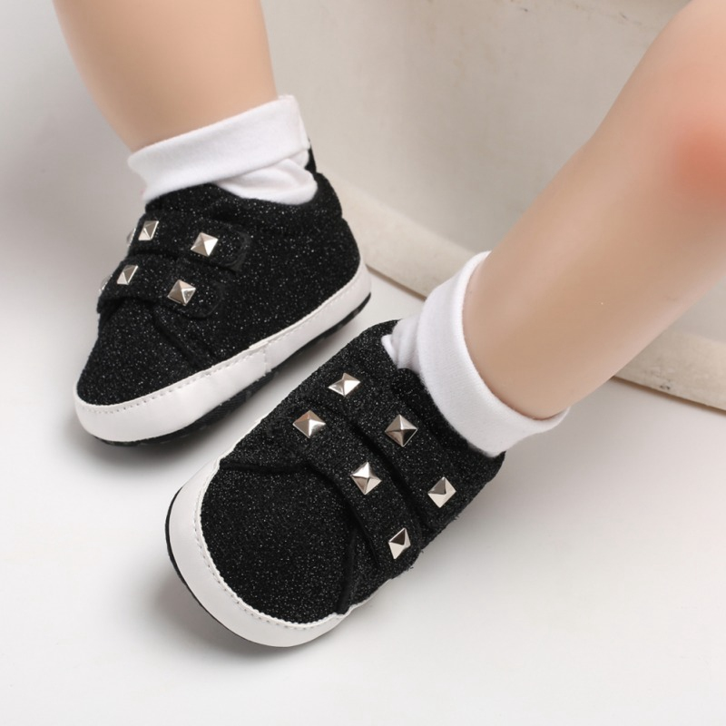 Baby Girl Boy Casual Shoes Breathable Anti-Slip Rivet Design Shoes Toddler Soft Soled First Walkers