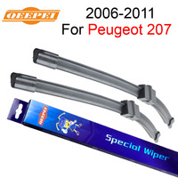 QEEPEI Wiper For Peugeot 207 2006 2011 26 17 Car Accessories For Auto Rubber Windshield Wipers