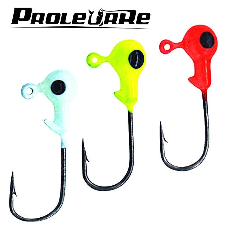 Buy proleurre 10pcs lot 3d eye fish head for Fish eye hook