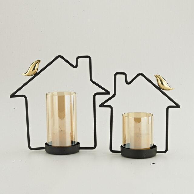 Lantern Candle Holder Copper Candlestick Holder Candle Stand Tealight Holder  Home Wedding Decoration Gift