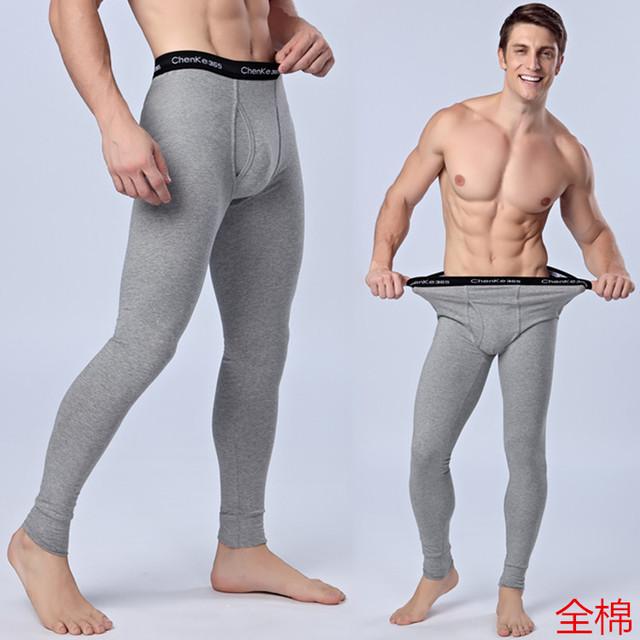 Buena calidad de los hombres pantalones de algodón caliente leggings y medias calzoncillos largos masculina men underwear leggins pantalones de invierno de los hombres 125