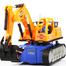 NewElectronic Toys LED Electric Construction Vehicle Excavator Truck Education Learning Funny Gadgets Interesting Toys Oyuncak20(China)