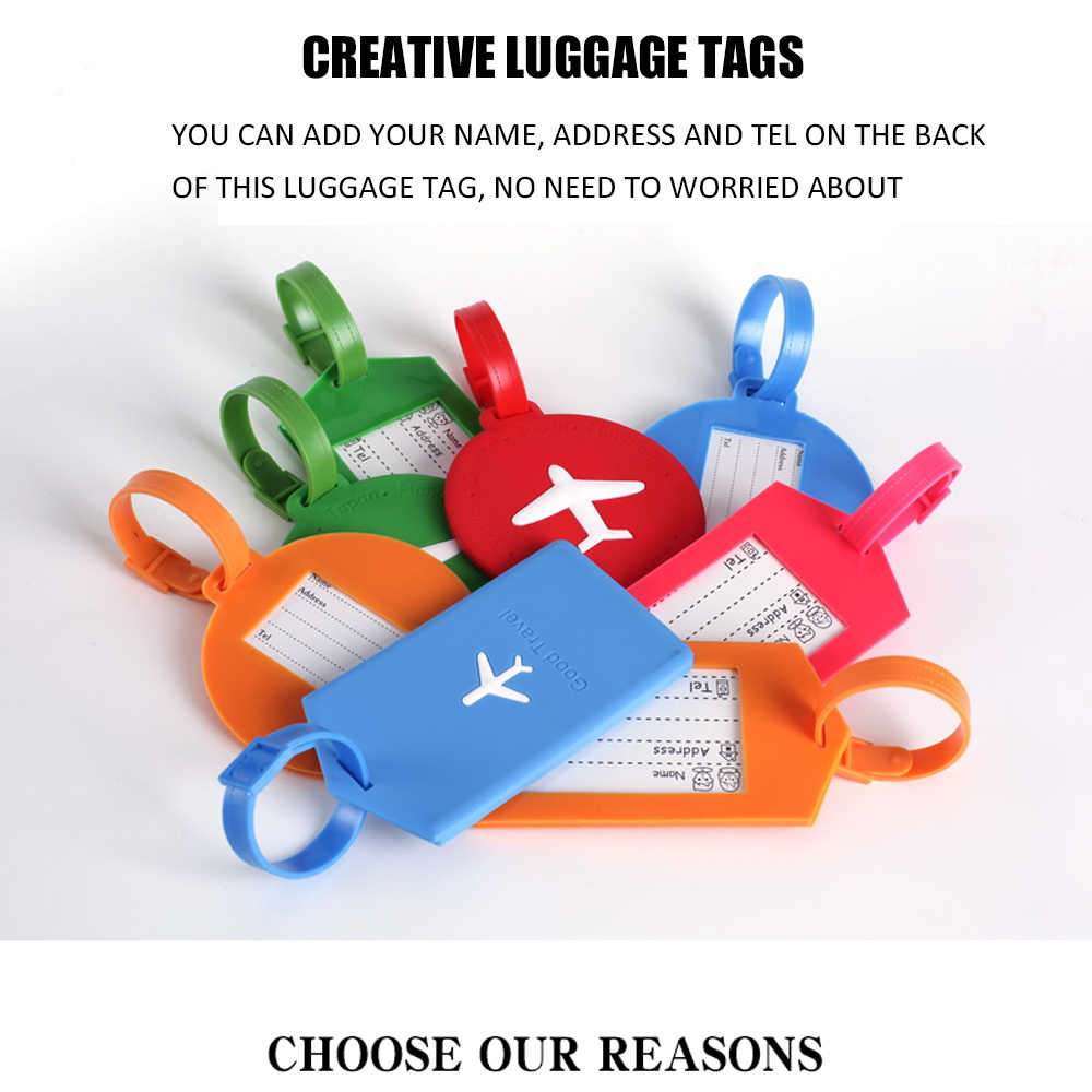 Travel Luggage Tags Creative Silicone Travel Luggage Tags Baggage Suitcase Bag Labels Name Address Tel Identity Labels