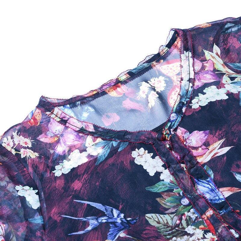 Soie green Fashion Boutique Style Longue Femmes Femme 2018 Réel Gamme Black D'été Européen Pour Robe Impression Deux Haut Ensembles pièce De FPFwzRqx