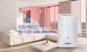Image 4 - KERUI P812 New Wired Infrared Motion Sensor Alarm Detector for GSM Security Burglar Alarm Wired Zones Home alarm system