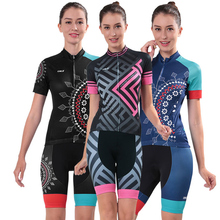 Reflective Women's Cycling Jersey & Mountain Bike Shorts Set CHEJI Team Maillot Ciclismo Racing Fit Bicycle Clothing Suit