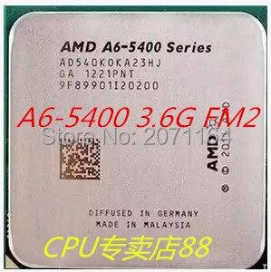 Новый без коробки упаковки процессоры AMD A6-5400K FM2 двухъядерный 3.6 Г ВСУ интегрированная графика рабочего ПРОЦЕССОРА