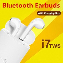 Hot Sell i7s TWS Bluetooth Earphone Stereo Earbud Wireless Headphones With Charging Box Mic For iphone Xiaomi Huawei All Phone(China)