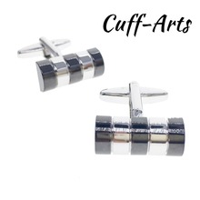 Cuffarts Striped Cufflinks Hammer Men Simple For Cuff Links Arm Button Gemelos Shirt Clip Present C20110