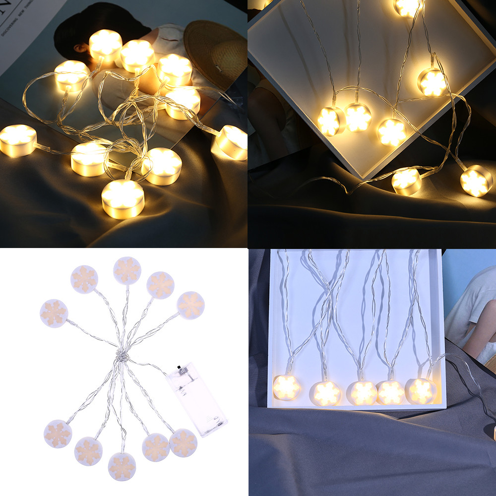 Led string lights christmas lights outdoor snowflake - Decorating with string lights indoors ...