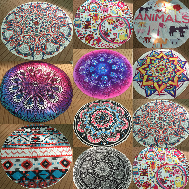 Vintage Round Mandala Indian Tapestry Wall Hanging Bohemian Hippie Yoga Mat  Beach Picnic Throw Towel Rug Blanket Home Decor